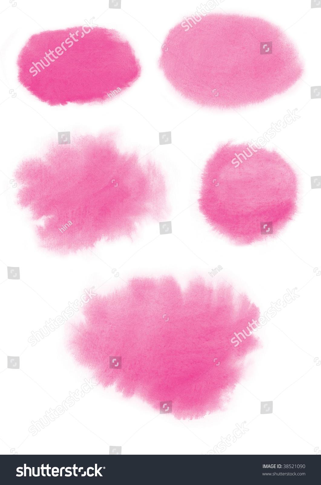 Watercolor Frames Pink Stock Illustration 38521090 - Shutterstock