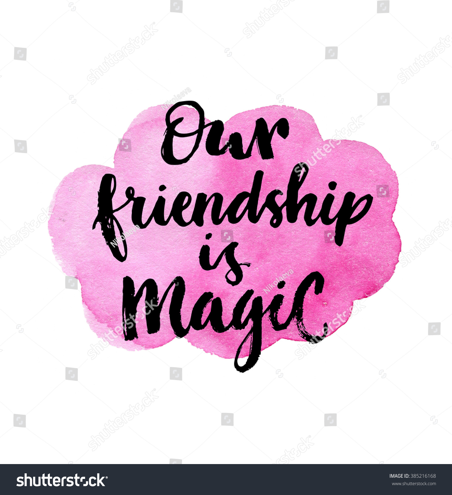 Latin Quotes About Friendship Our Friendship Magic Inspirational Quote On Stock Illustration