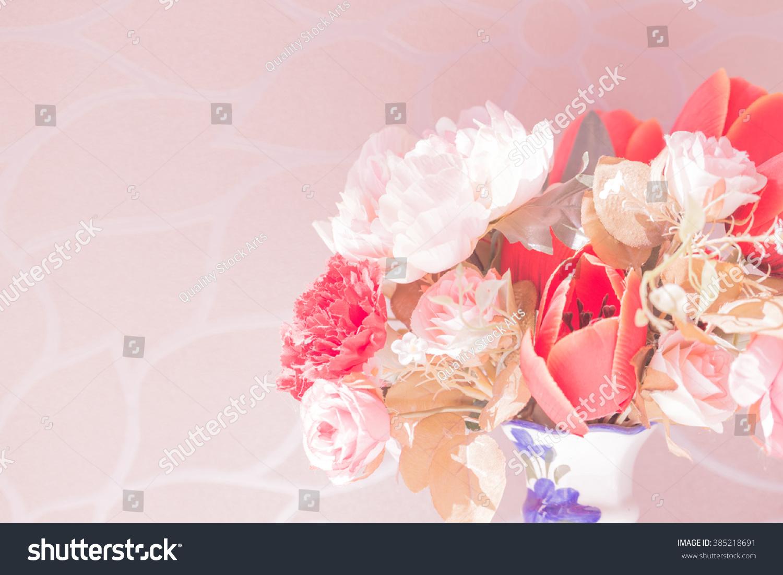 Flower In The Vase Pink Color Tone Ez Canvas