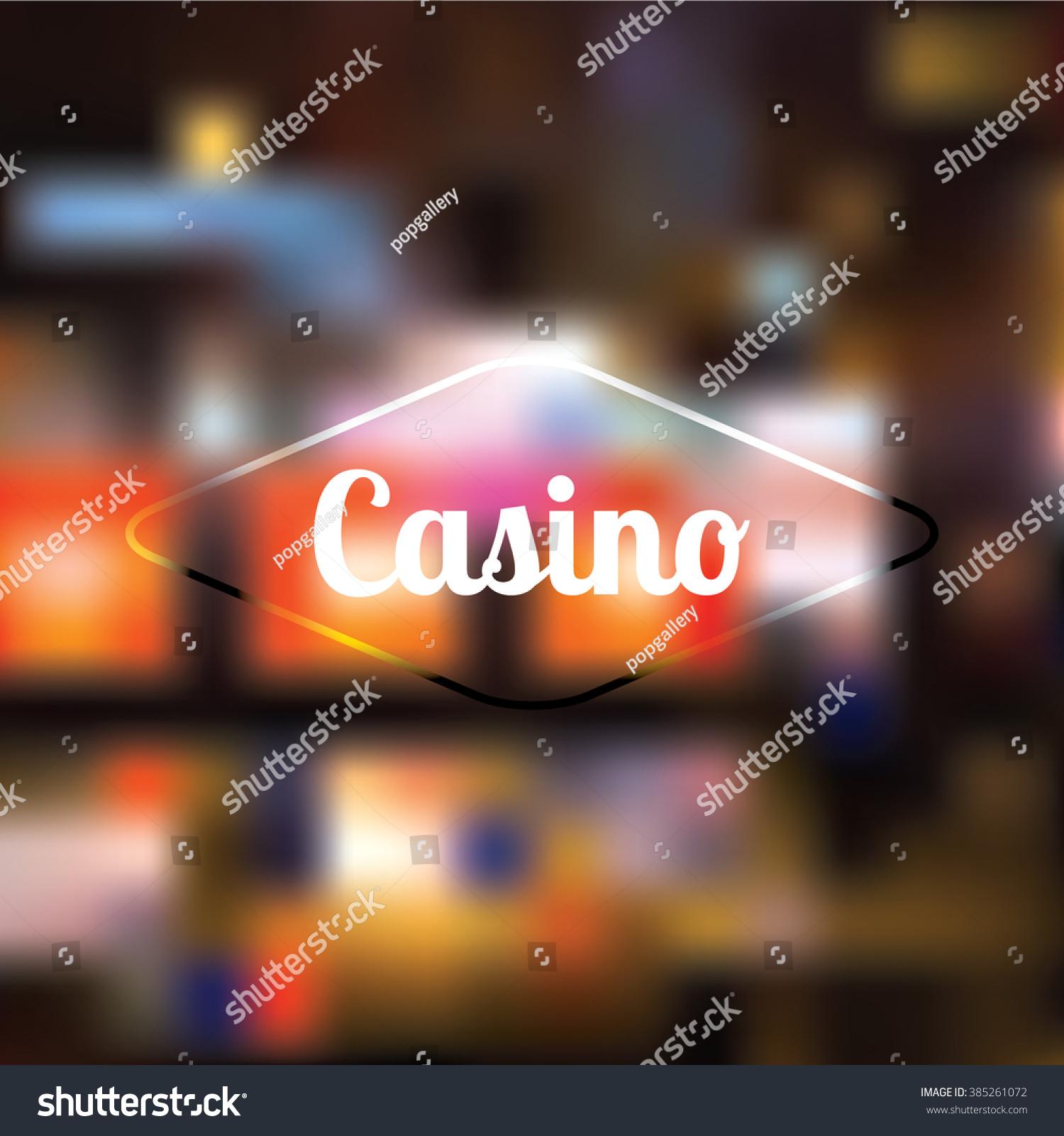 Vector De Stock Libre De Regalías Sobre Blur Vector Casino