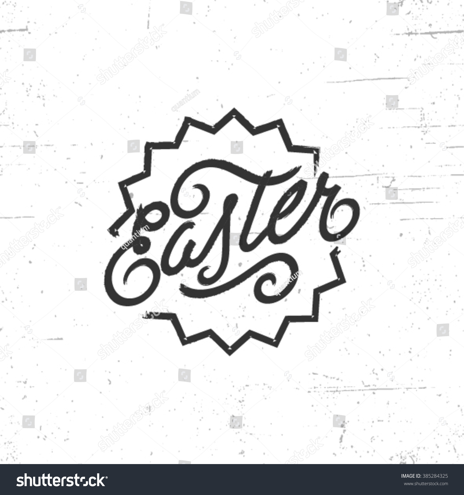 Handdrawn lettering design elements happy easter stock