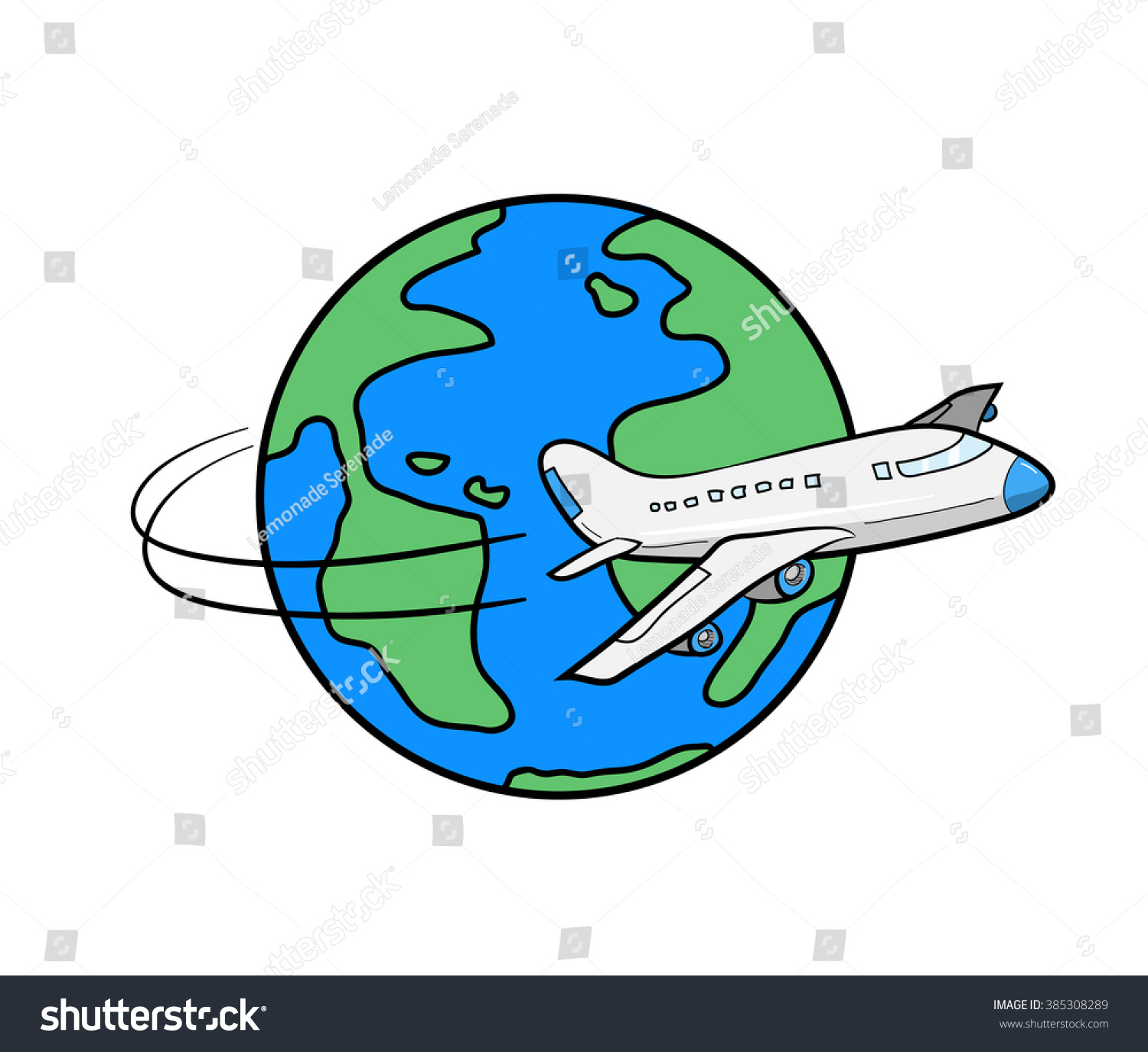 Travel around world hand drawn vector stock vector for All around the world cruise
