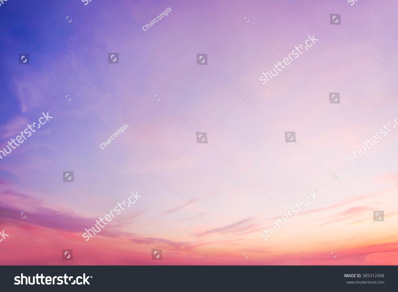 Pastel Summer Neon Gradient: Pastel Gradient Blurred Sunset Background Sky Stock Photo