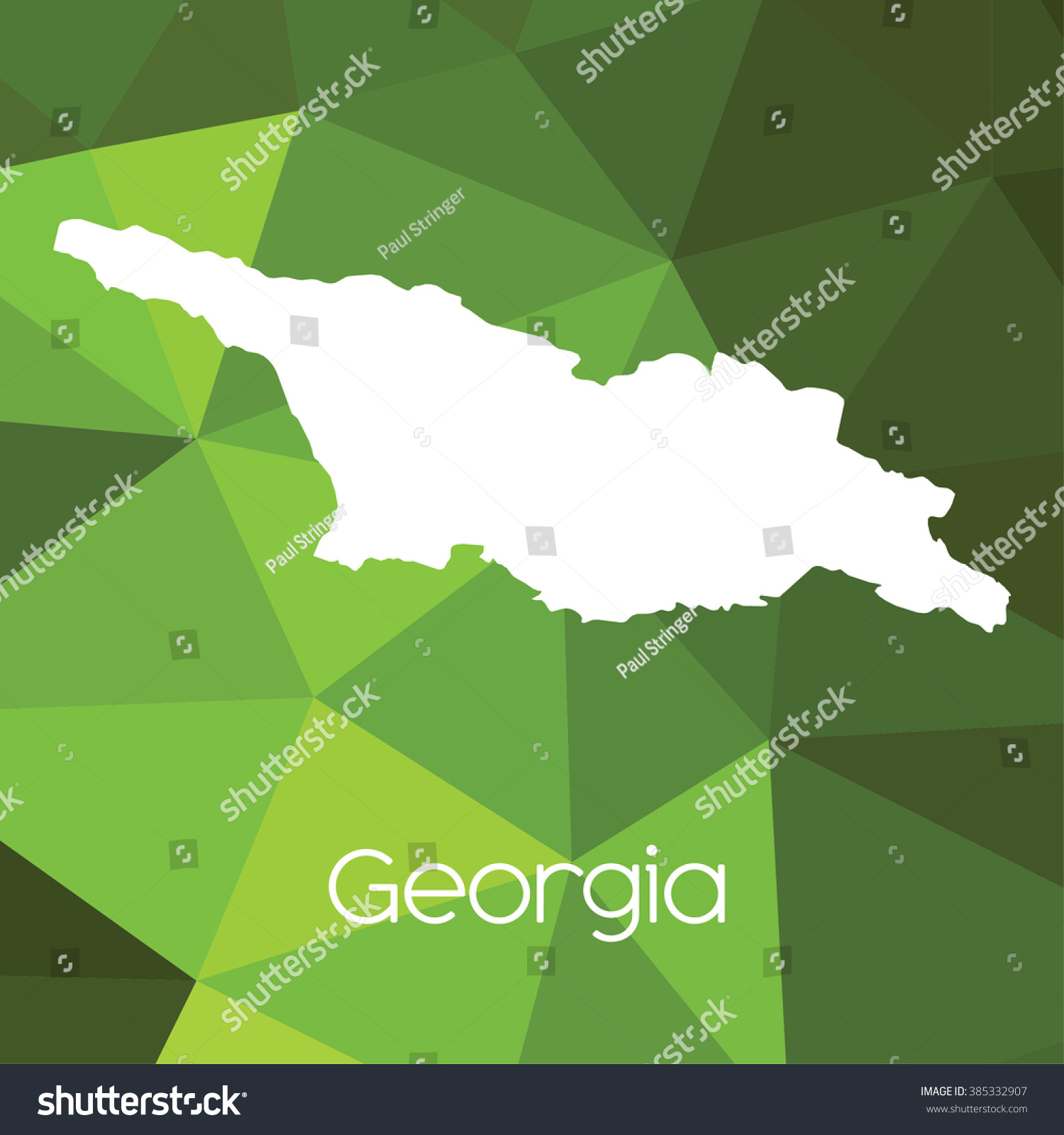 Map Of Country Of Georgia.Map Country Georgia Stock Illustration 385332907 Shutterstock