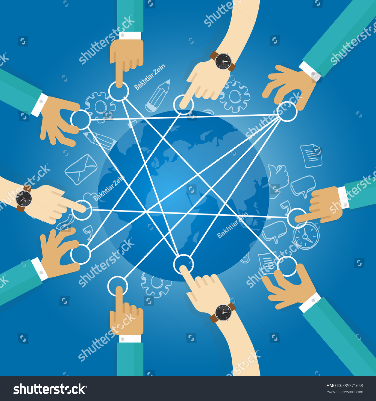 Connecting world building transportation network globe vector de connecting world building transportation network globe collaboration team work interconnection infrastructure gumiabroncs Gallery
