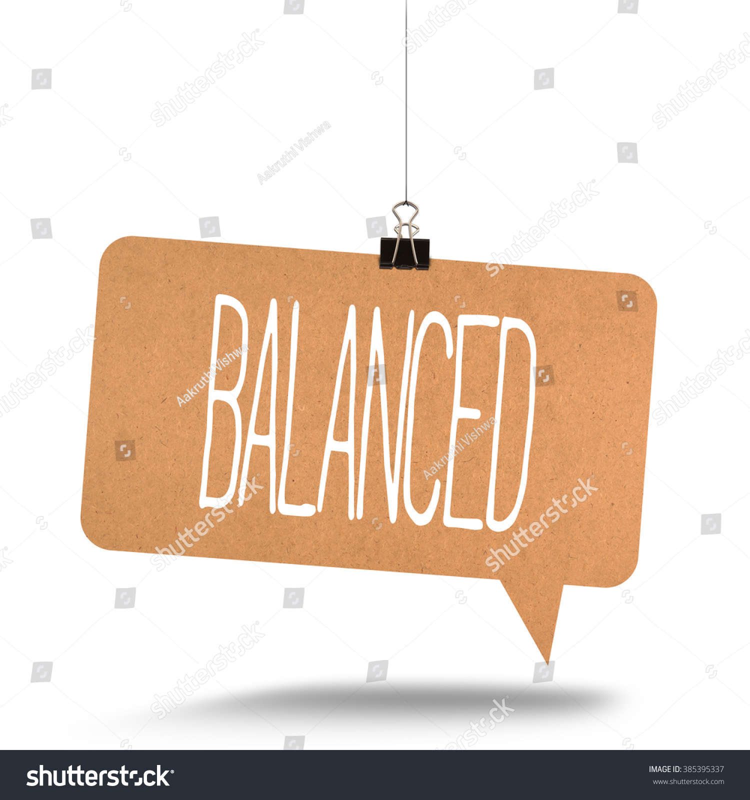 balanced word on cardboard stock photo edit now 385395337