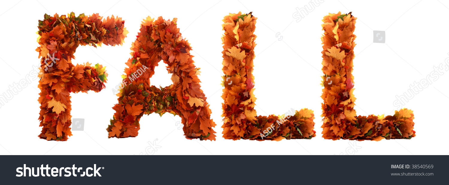 word fall isolated on background stock photo edit now 38540569