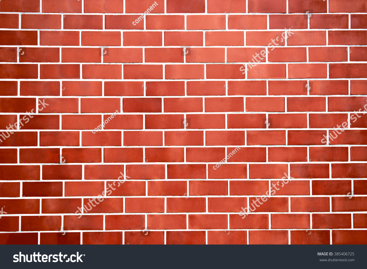 Red New Brick Wall Pattern Background For Architecture Design Front Or Top View
