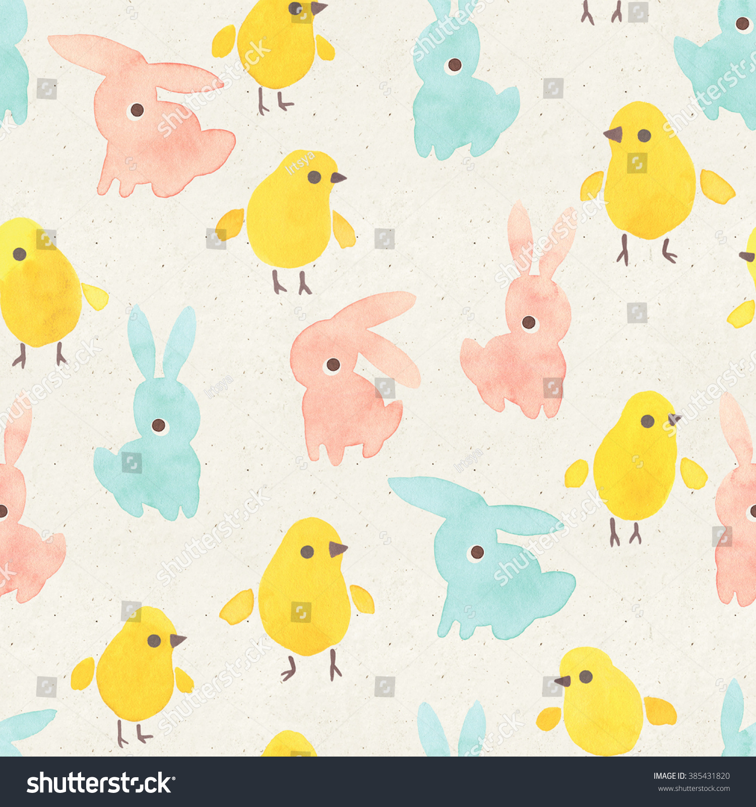 seamless watercolor pattern on paper texture stock illustration