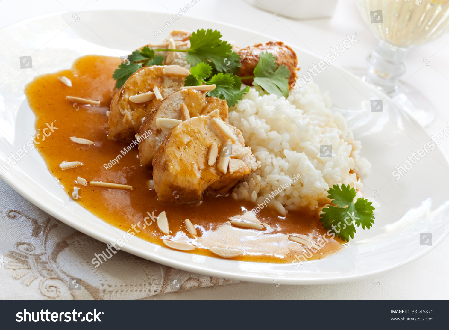 Slow-Cooked Apricot Chicken, With Rice, Cilantro And ...