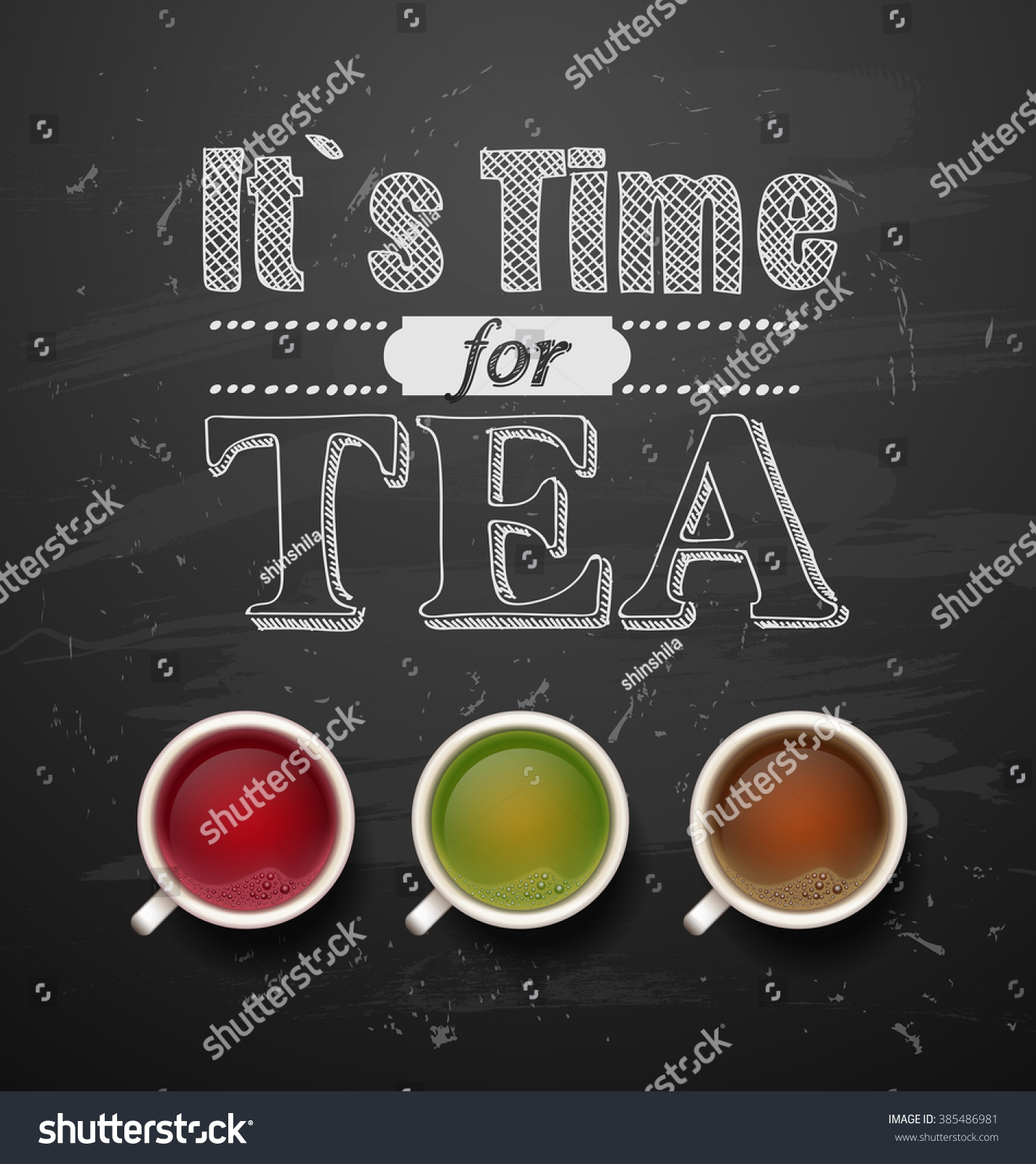 Royalty Free Good Morning Types Of Tea Tea Cups 385486981