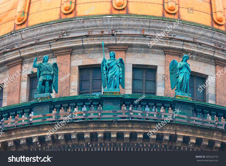 SAINT PETERSBURG, RUSSIA - FEB 26, 2016: Three Angels of Saint Isaacs Cathedral, detail.