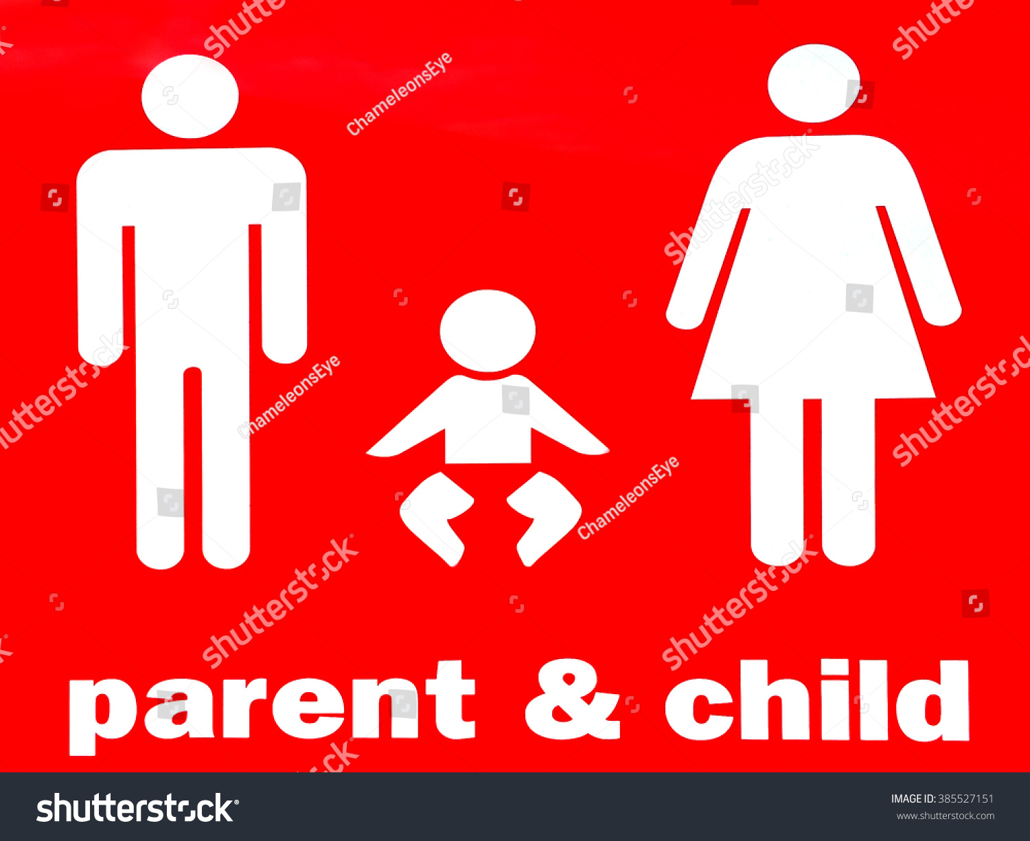 Parent Child Sign Symbol Family One Stock Illustration 385527151