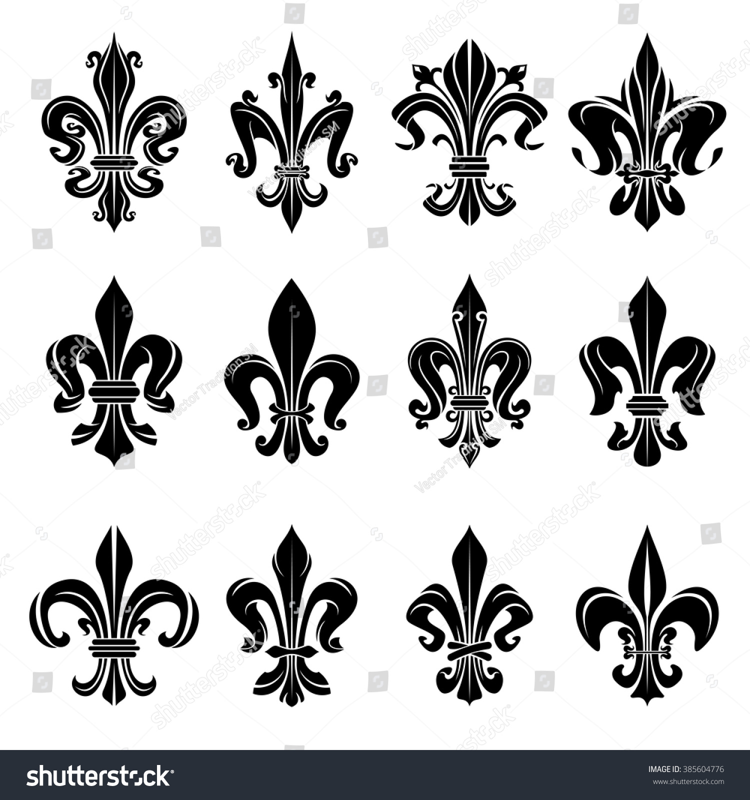 Royal french heraldry design elements coat stock vector 385604776 royal french heraldry design elements for coat of arms emblem or medieval design with black buycottarizona