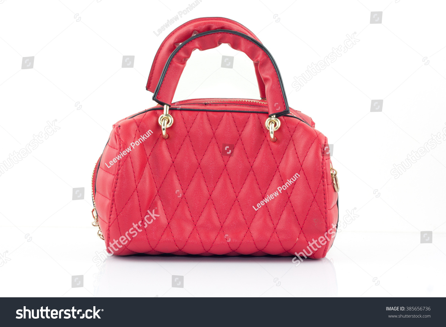 f37e2020bb880 Red Women Bag Isolated On White Stock Photo (Edit Now) 385656736 ...