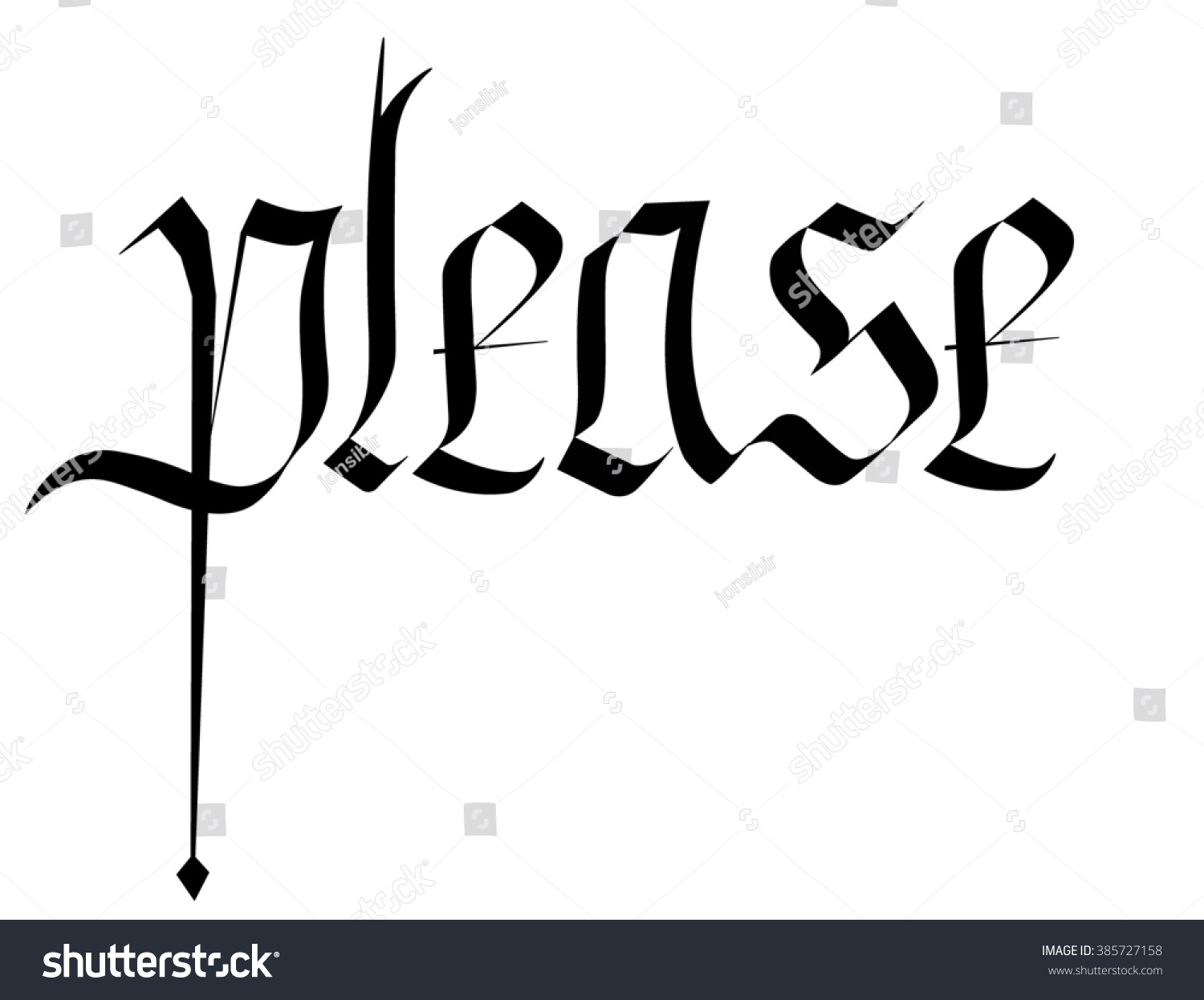 Gothic Calligraphy Write Please Stock Illustration 385727158 Expocarfo Choice Image