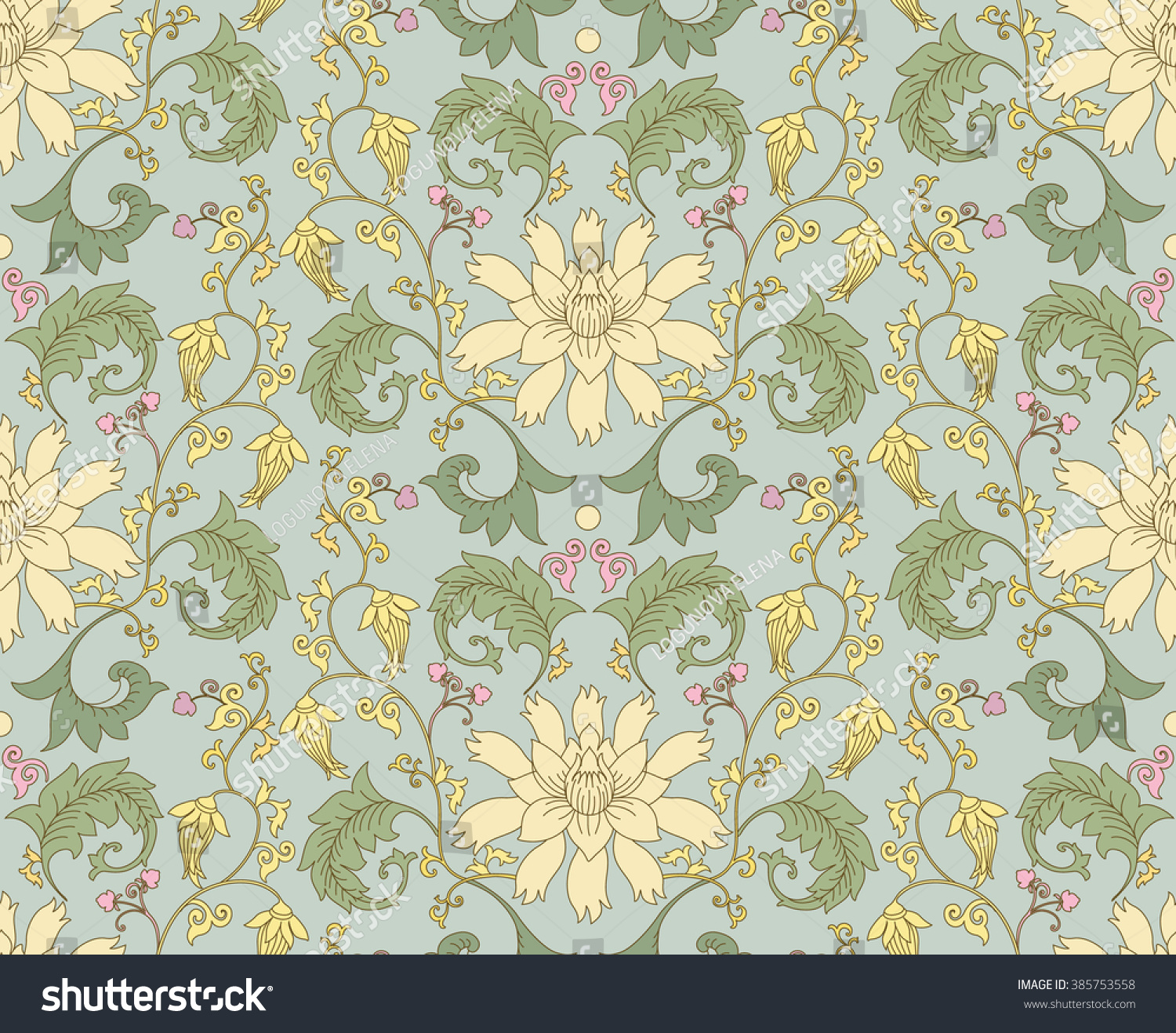 Chinese pattern lotus flowers seamless vector stock vector chinese pattern with lotus flowers seamless vector ornaments in traditional style national ornamental motives dhlflorist Choice Image