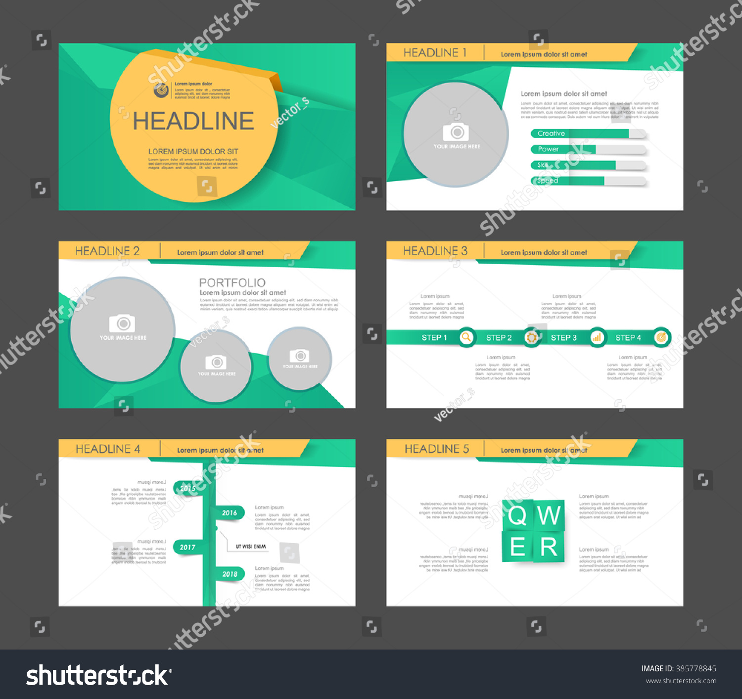 orange green polygon orange and green polygon infographic flyer presentation template web marketing