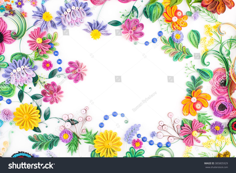 Paper Quillingcolorful Paper Flowers Ez Canvas