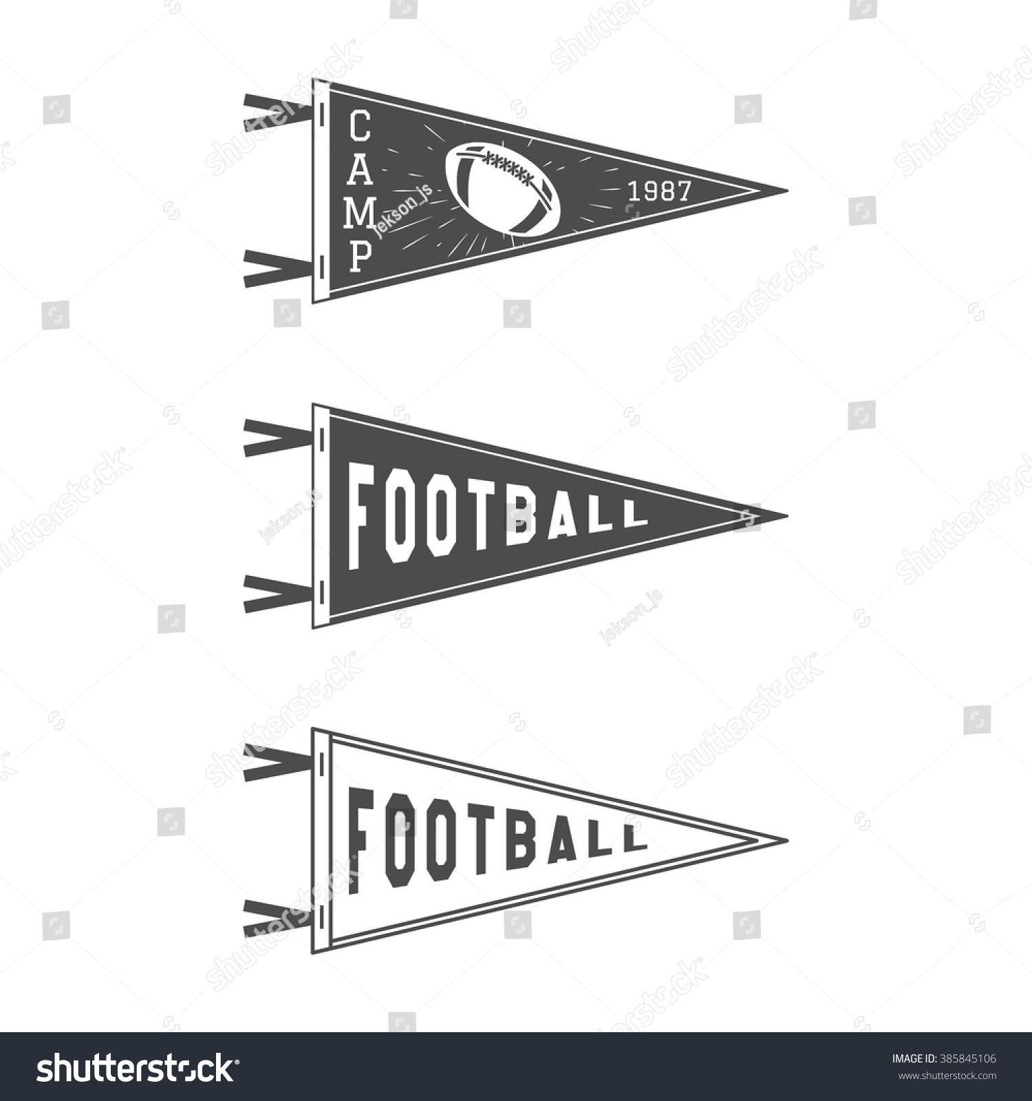 College football pennant flags set vector stock vector 385845106 college football pennant flags set vector football pendant icons university usa sport flag pronofoot35fo Images