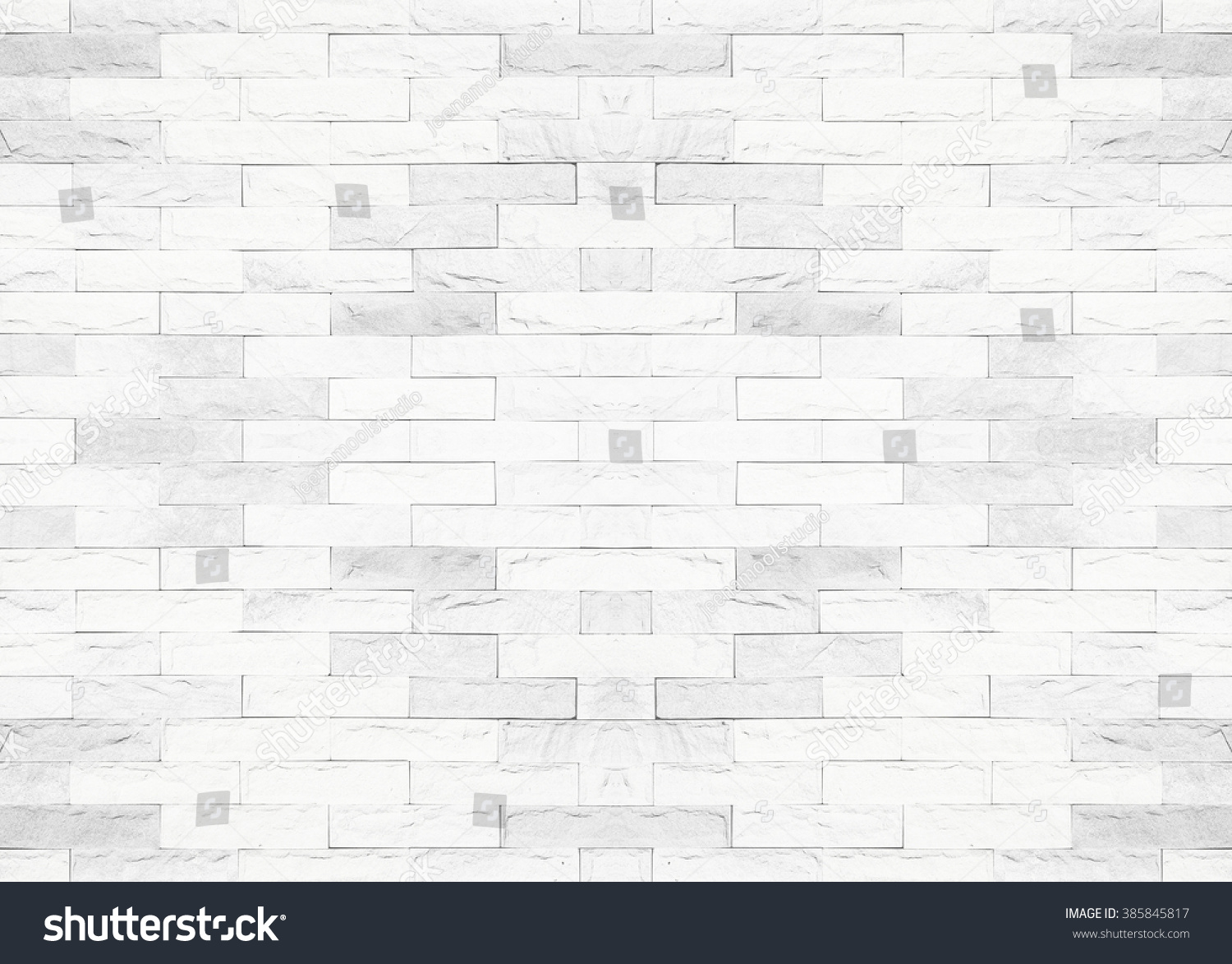 Tiled brick wall light white color stock photo 385845817 - Most popular wall texture ...