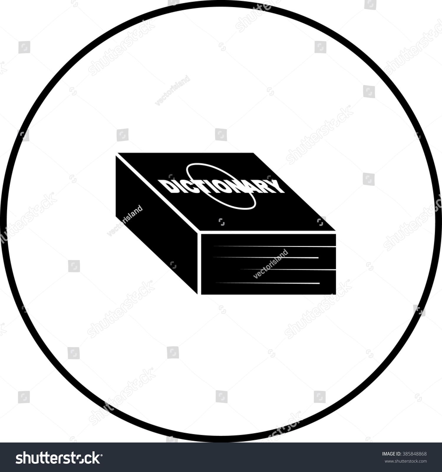 Dictionary Symbol Stock Vector 385848868 Shutterstock