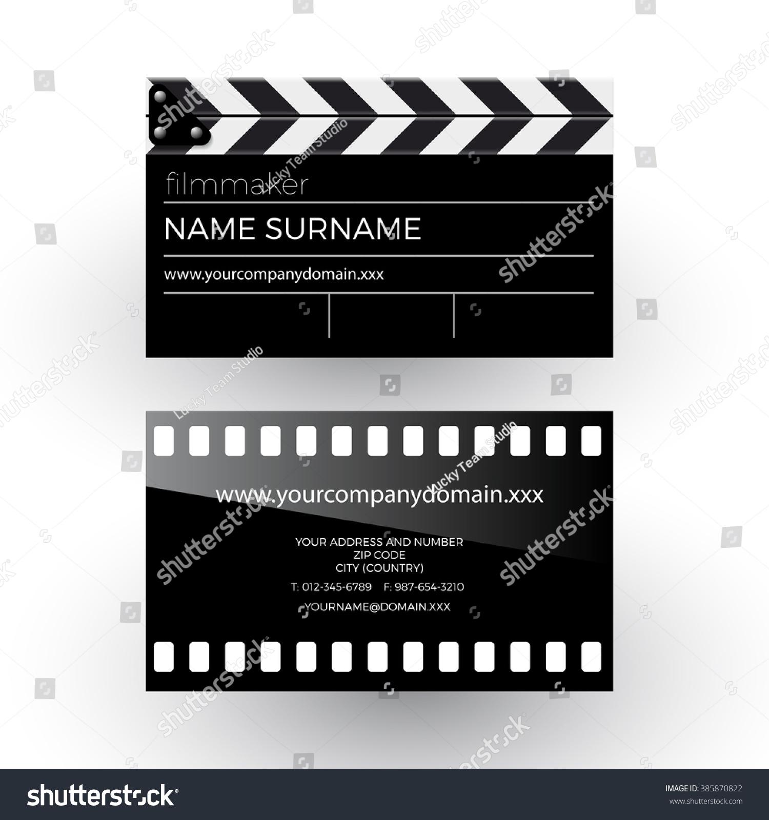 Vector Abstract Clapperboard Movie Film Filmmaker Stock Vector ...
