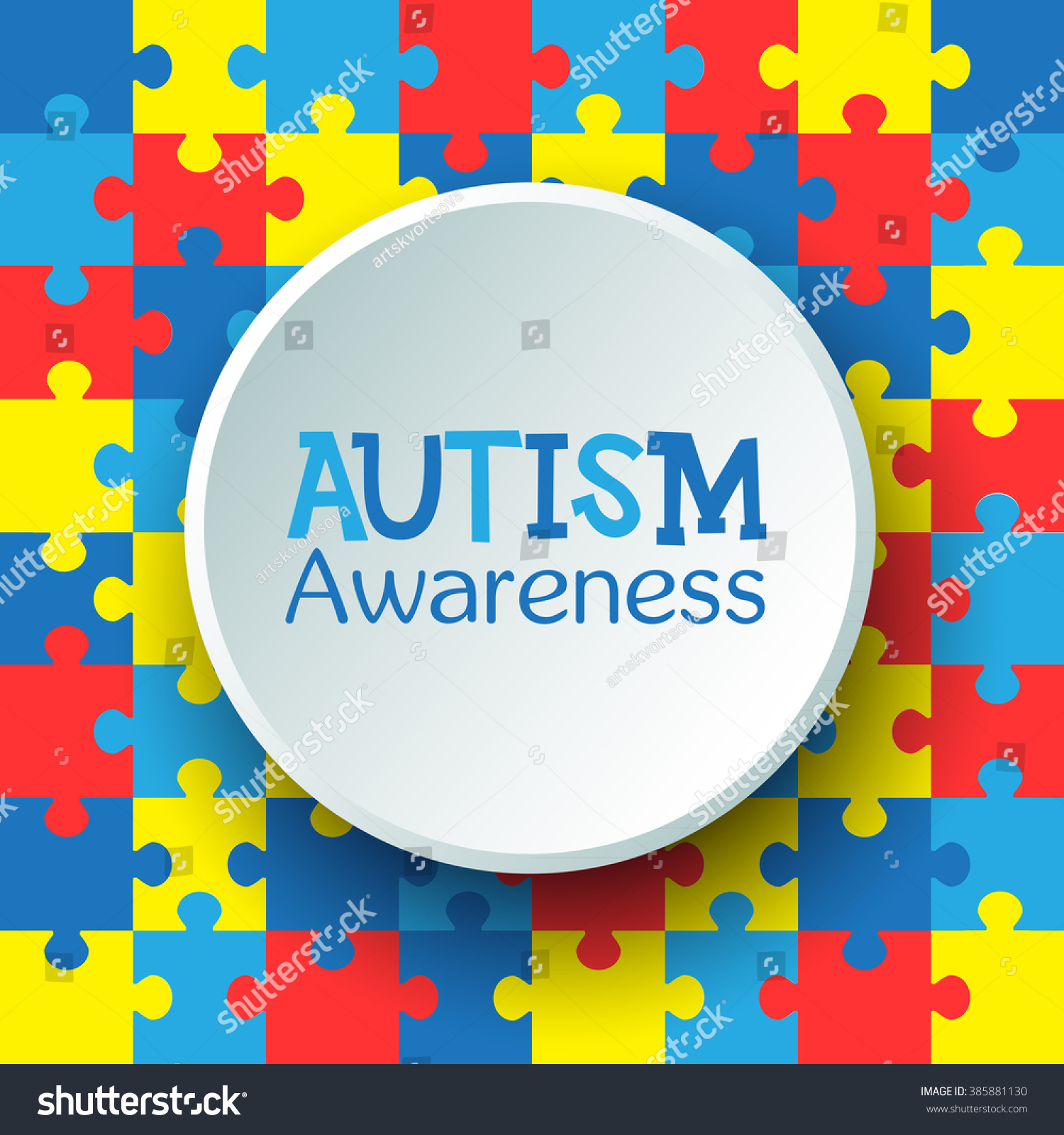 World autism awareness day colorful puzzles stock vector 385881130 world autism awareness day colorful puzzles vector background symbol of autism medical flat biocorpaavc