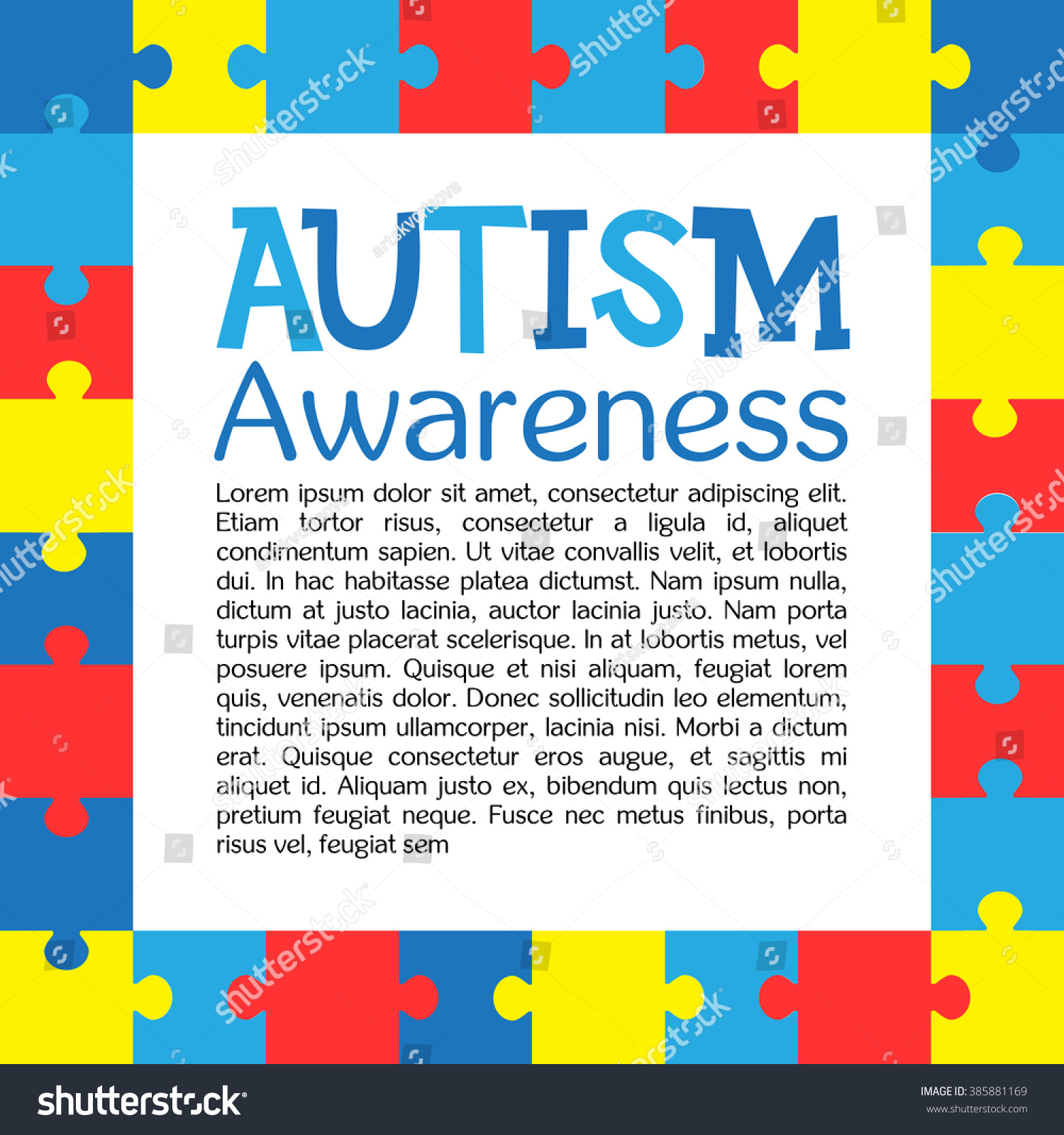World autism awareness day colorful puzzles stock vector 385881169 world autism awareness day colorful puzzles vector background symbol of autism medical flat biocorpaavc