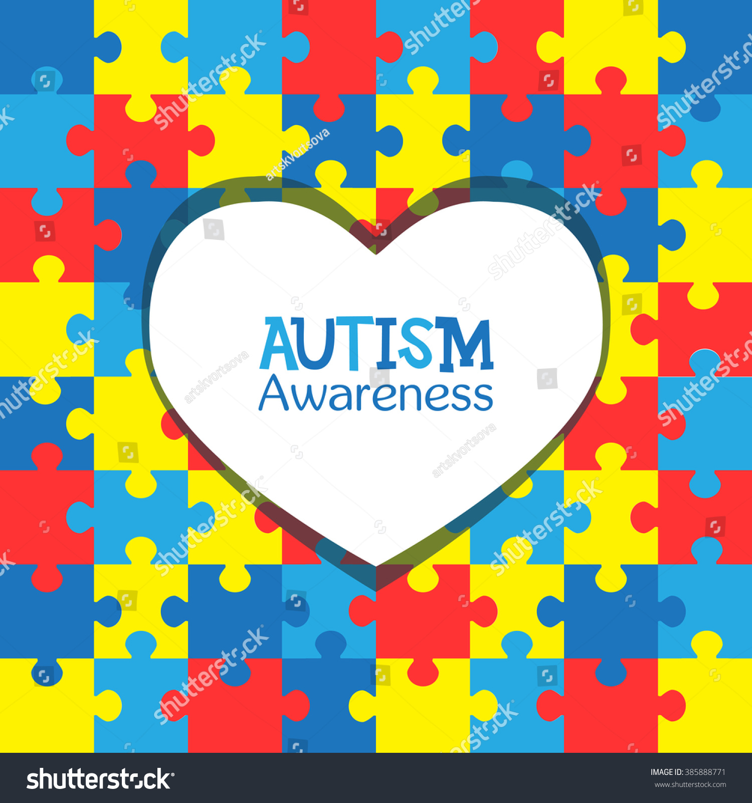World autism awareness day colorful puzzles stock vector 385888771 world autism awareness day colorful puzzles vector background with heart symbol of autism biocorpaavc Gallery