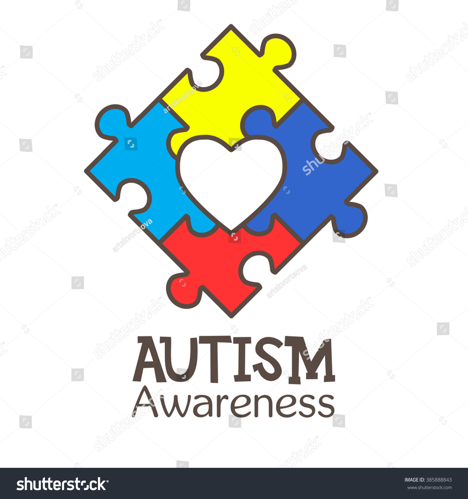 World autism awareness day colorful puzzle stock vector 385888843 world autism awareness day colorful puzzle vector design sign symbol of autism medical biocorpaavc