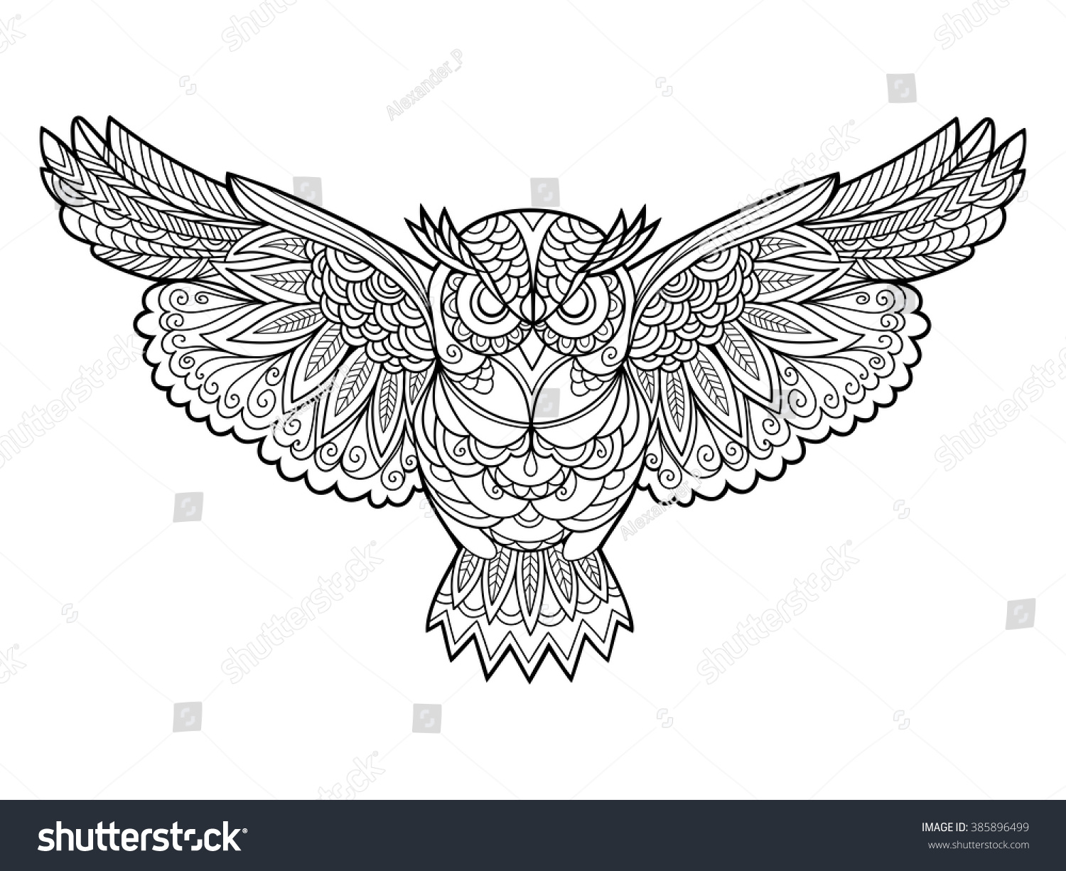 The stress coloring book - Owl Bird Coloring Book For Adults Vector Illustration Anti Stress Coloring For Adult