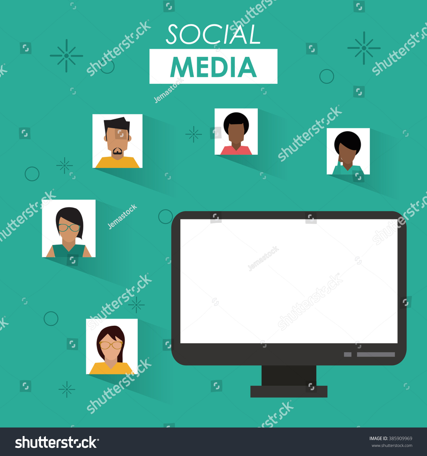 Social Media Design Stock Vector 385909969 - Shutterstock