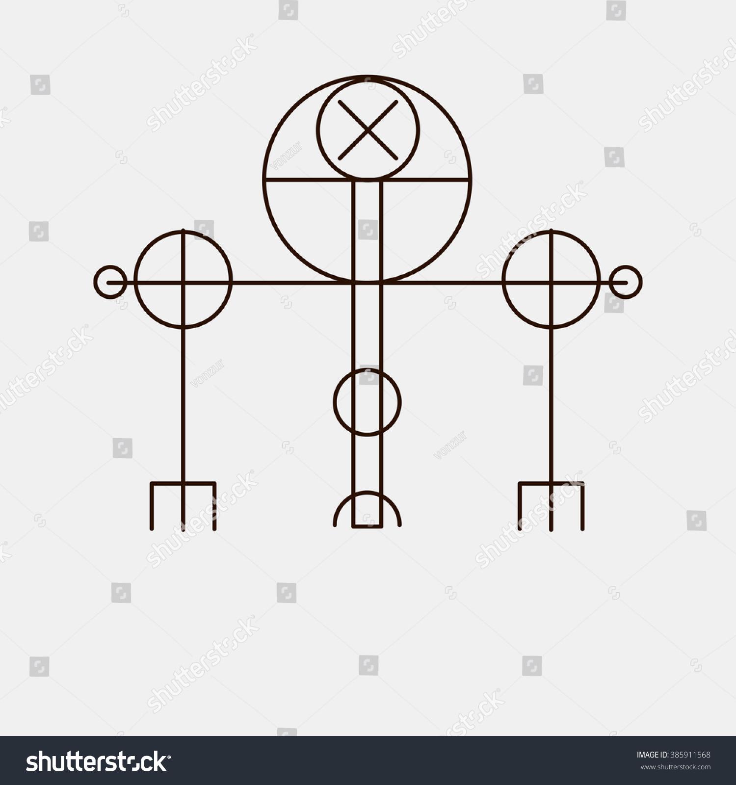 Galdrastafir Magic Runic Symbols That Appeared Stock Vector Royalty