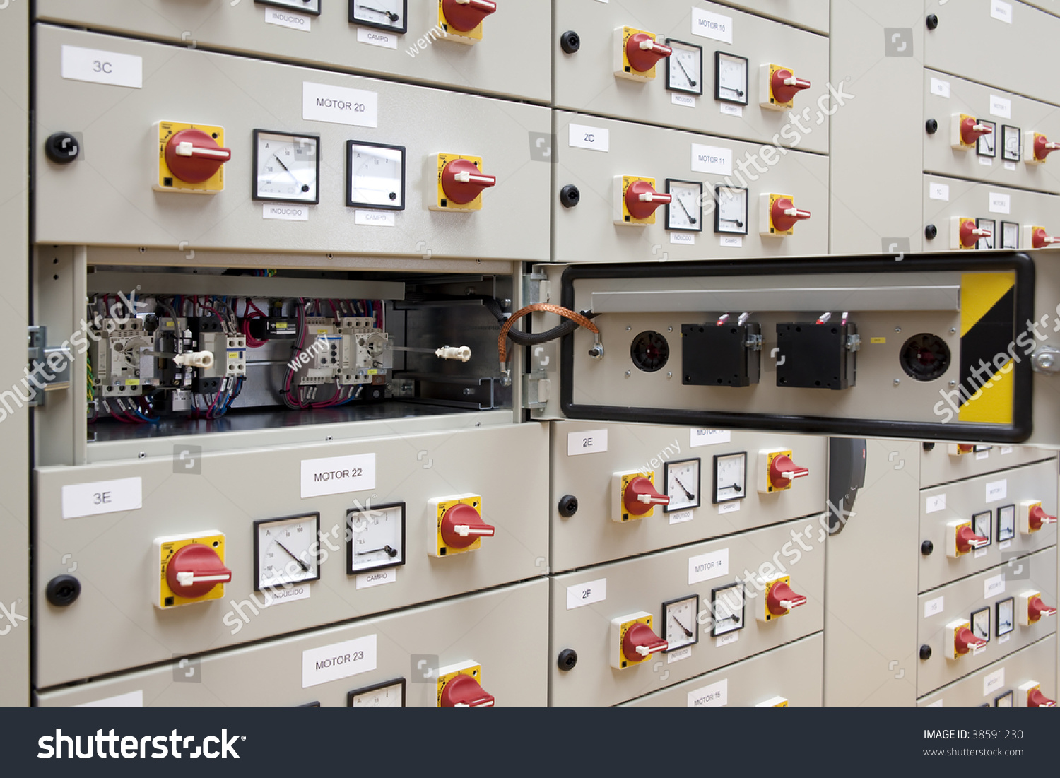 Electrical Panel Board Motors Control Stock Photo (Edit Now ...