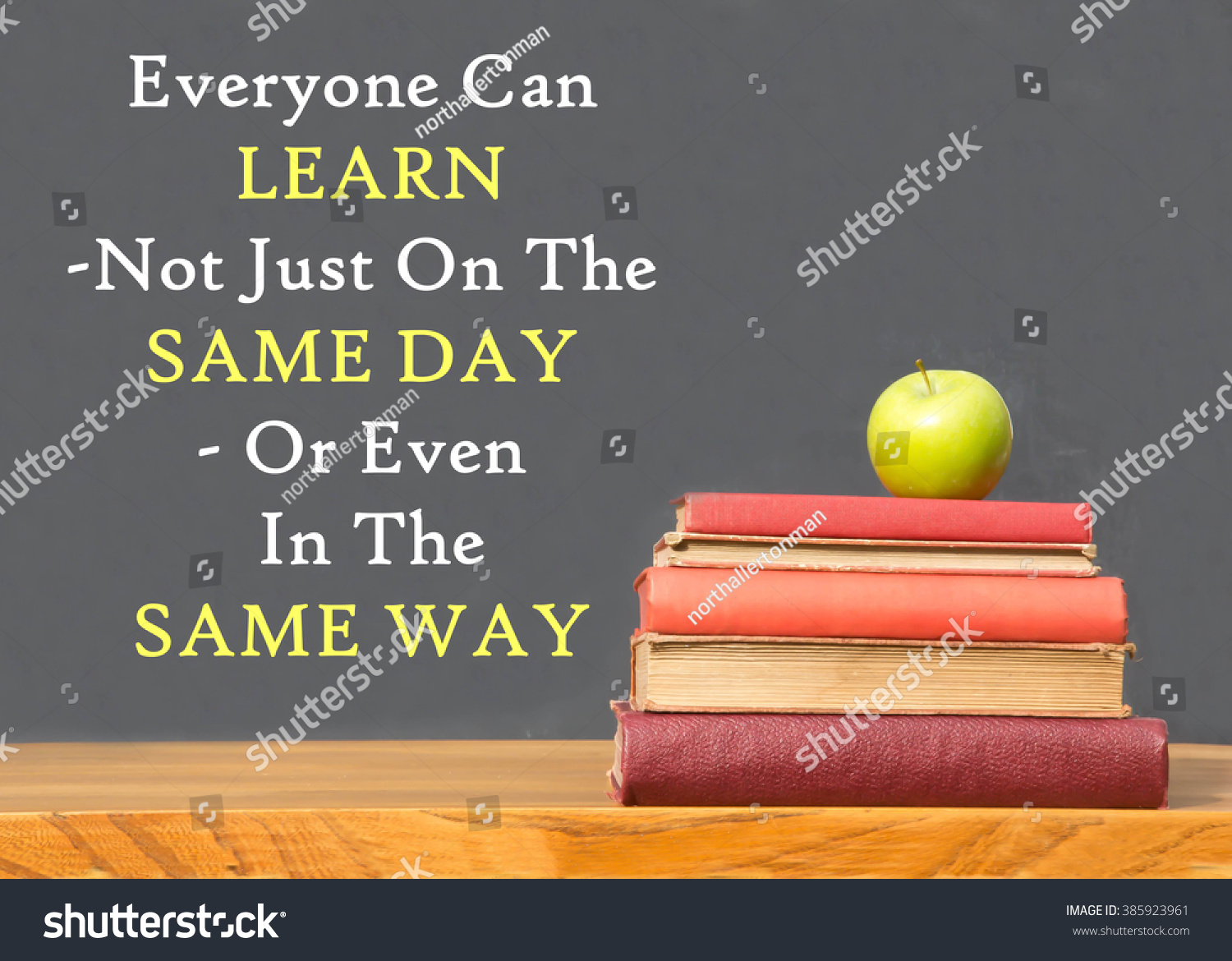 Inspirational Message Of The Day Inspirational Message Everyone Can Learn Not Stock Photo 385923961