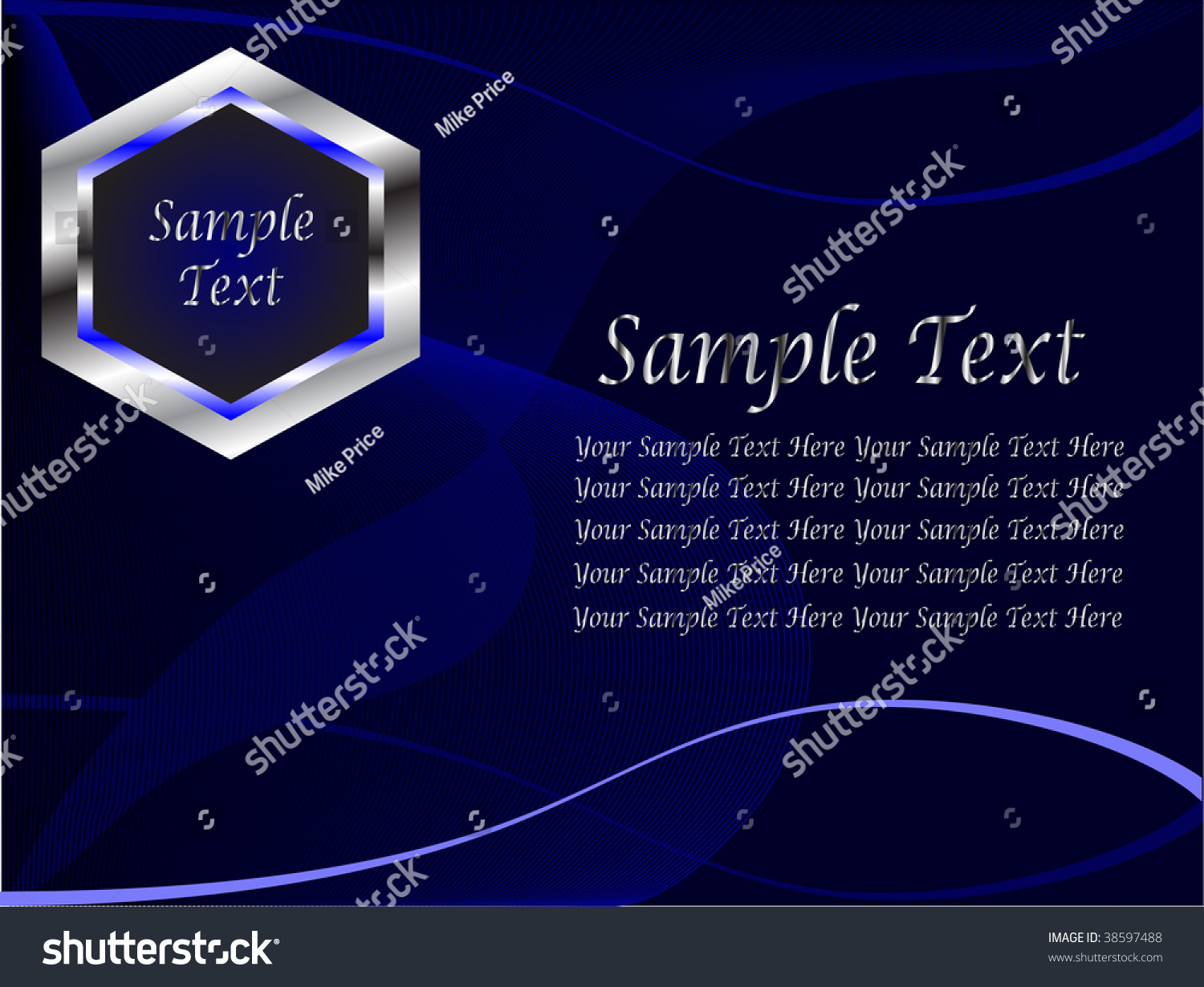 Sample generic business cards gallery card design and card template blue silver generic business card presentation stock vector a blue and silver generic business card or alramifo Images