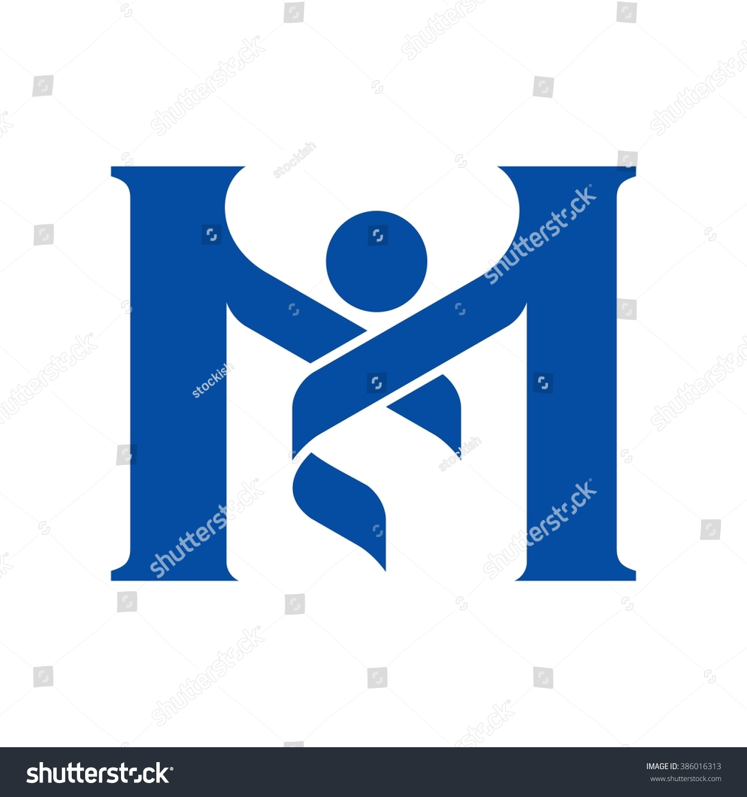 Letter Blue And White Logo Logos Catagory