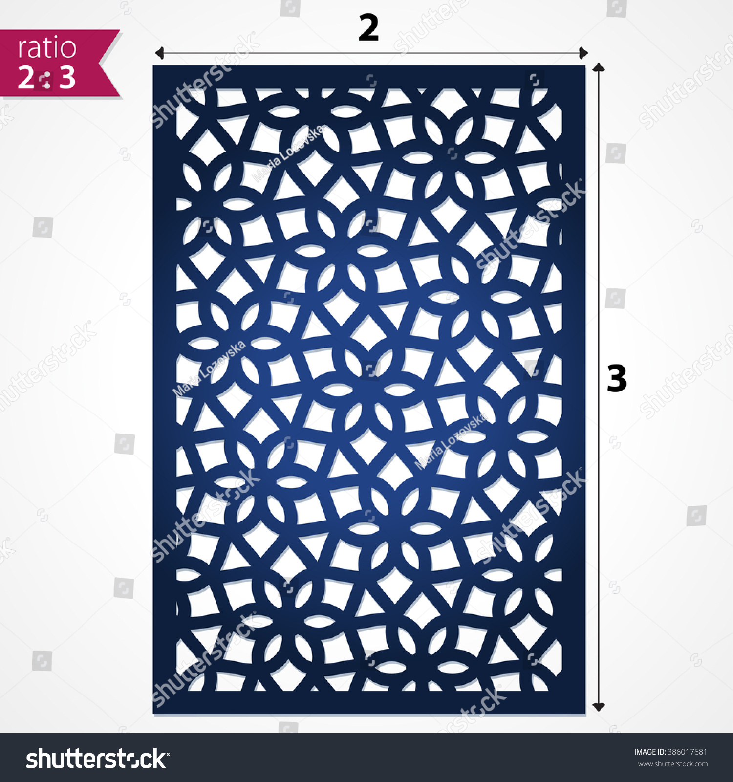 Abstract cutout panel laser cutting die em vetor stock 386017681 abstract cutout panel for laser cutting die cutting or stencil vector filigree pattern for stopboris Choice Image
