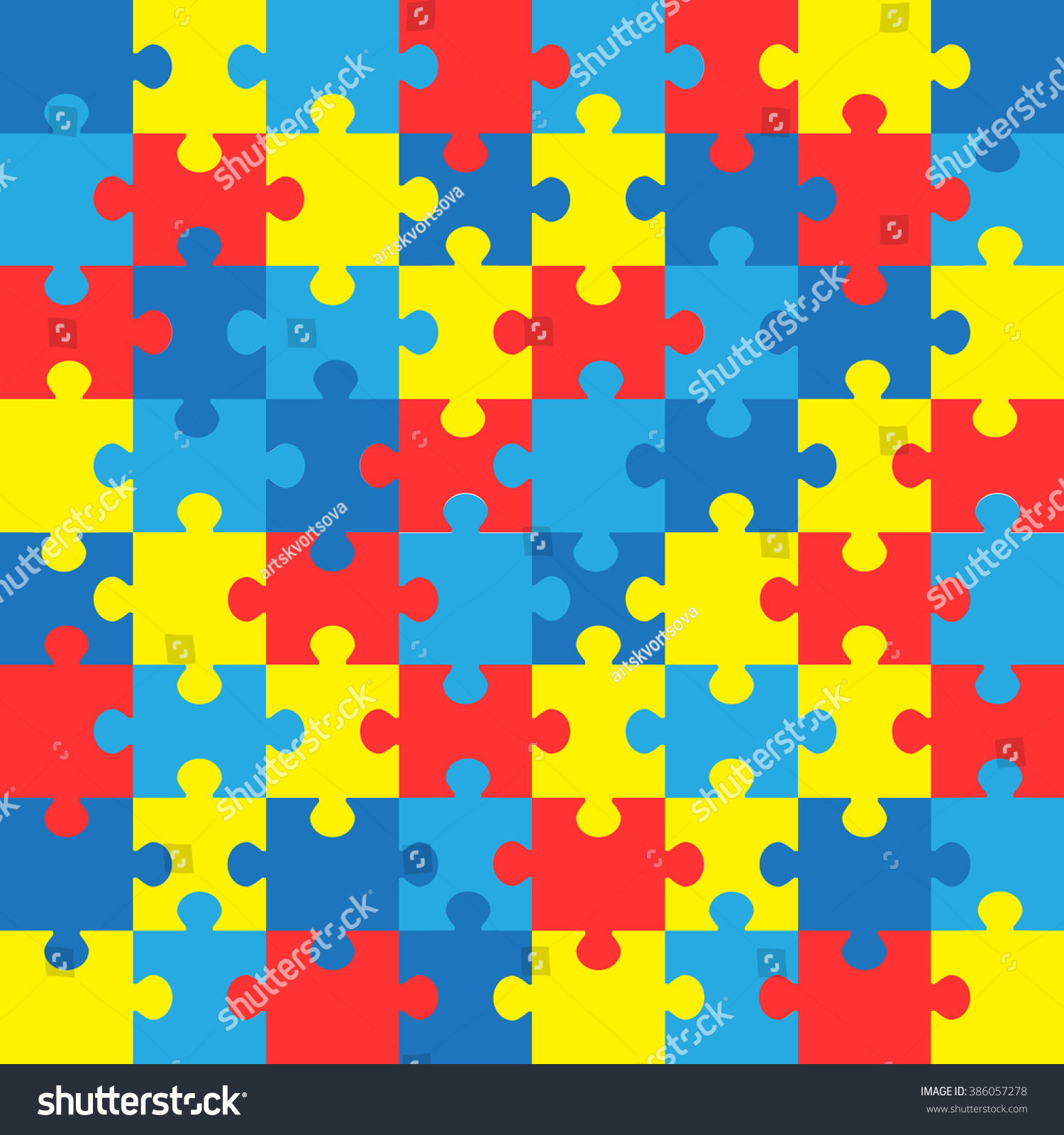World autism awareness day colorful puzzles stock vector 386057278 world autism awareness day colorful puzzles vector background symbol of autism medical flat biocorpaavc