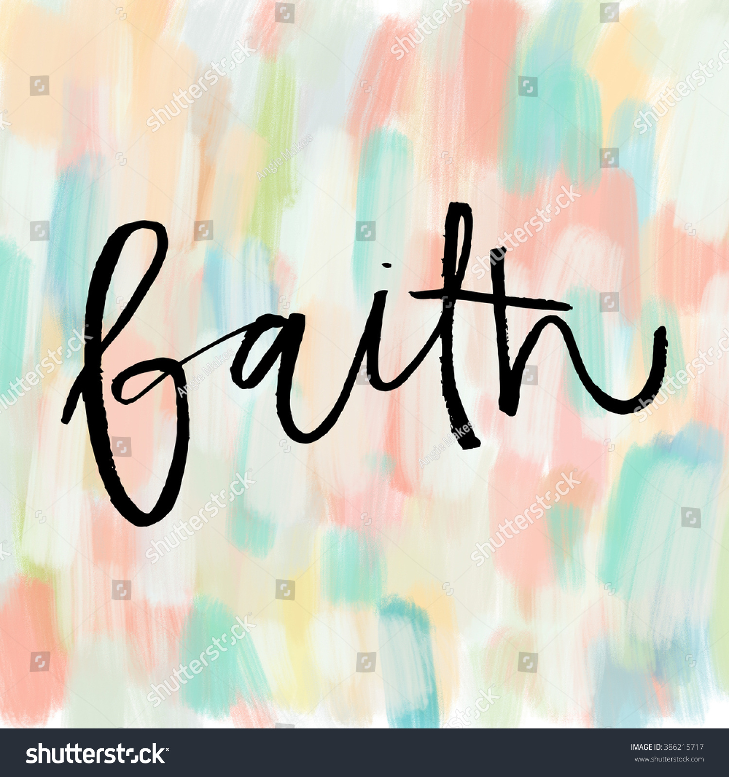 Word faith painted calligraphy word faith stock Images of calligraphy