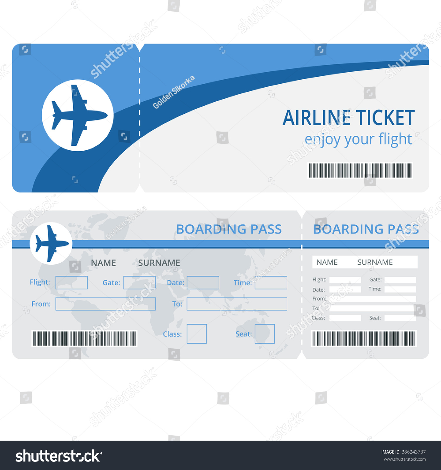 blank airline ticket essay