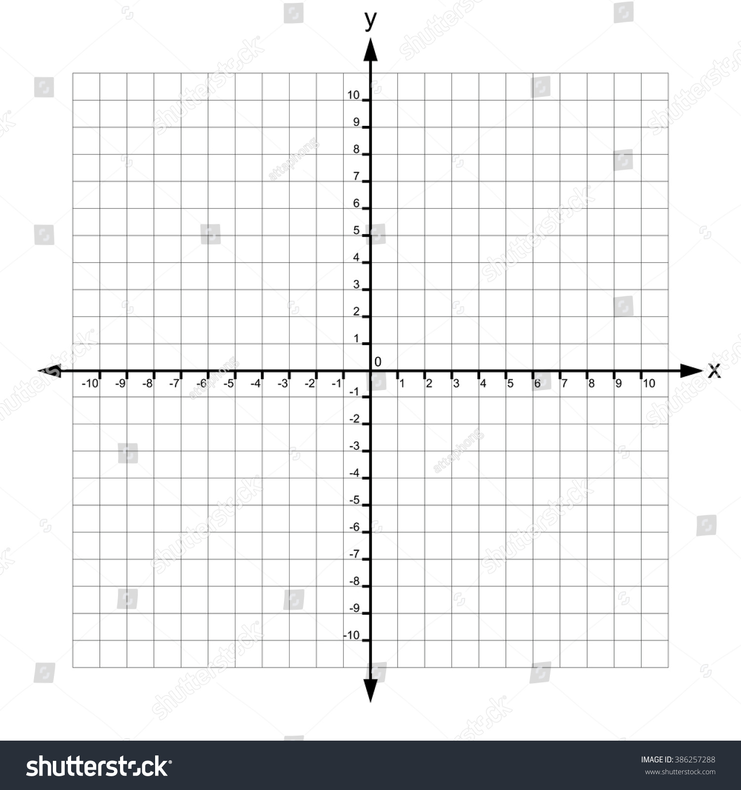 worksheet Graph Paper With X And Y Axis x y axis numbers vector stock 386257288 shutterstock and with vector