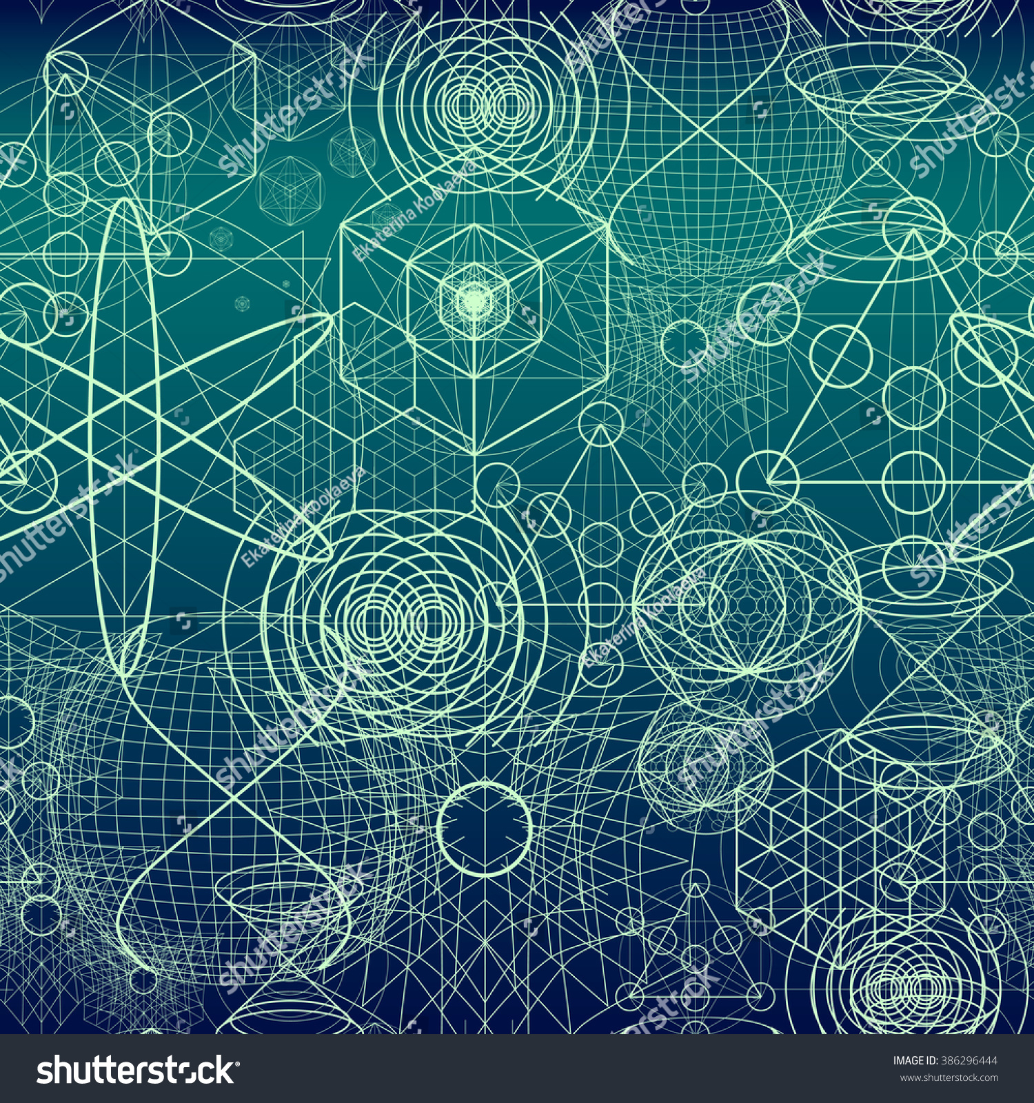 sacred geometry symbols elements wallpaper seamless stock