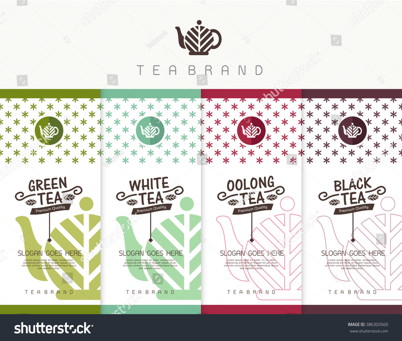 vector set templates packaging tea logo stock vector royalty free