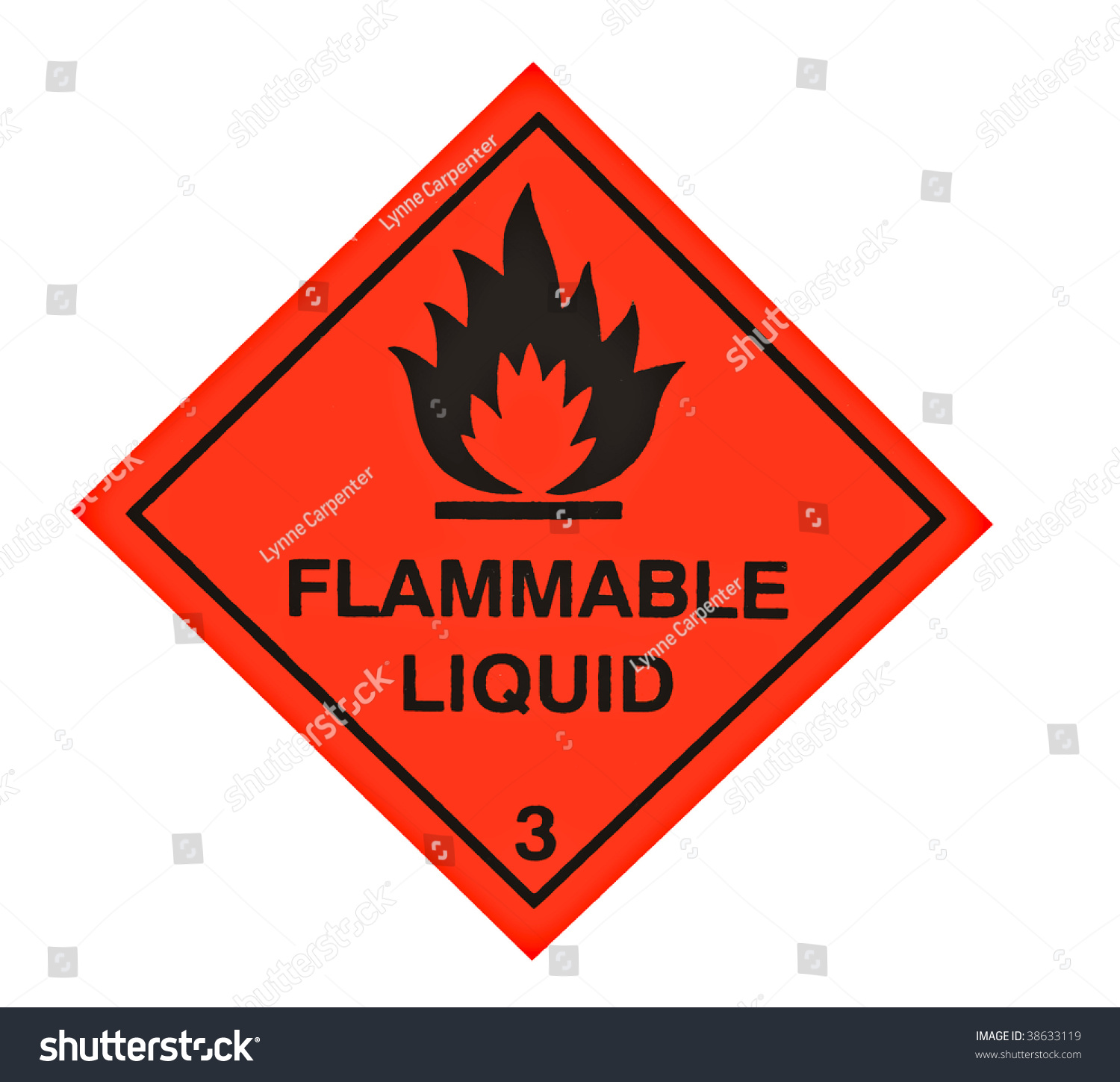 A Red Diamond Shaped Sign Warning Of Flammable Liquid ...