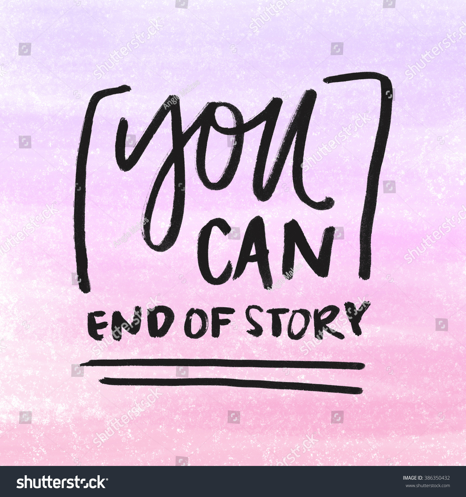 you can do it poster hand brush lettering inspirational