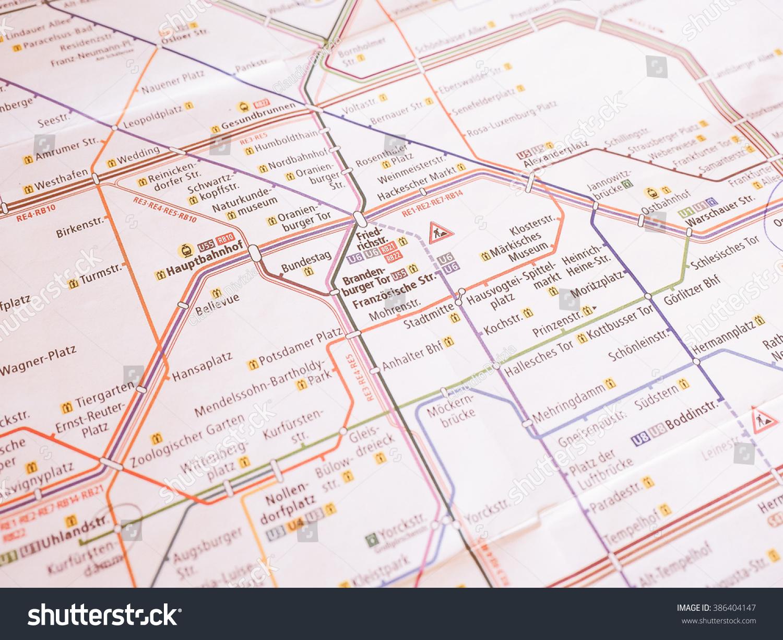 BERLIN GERMANY JANUARY Tube Stock Photo Royalty Free - Vintage map berlin