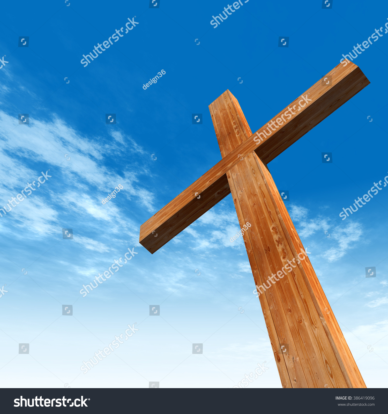 Concept conceptual wood cross religion symbol stock illustration concept or conceptual wood cross or religion symbol shape over a blue sky with clouds background buycottarizona