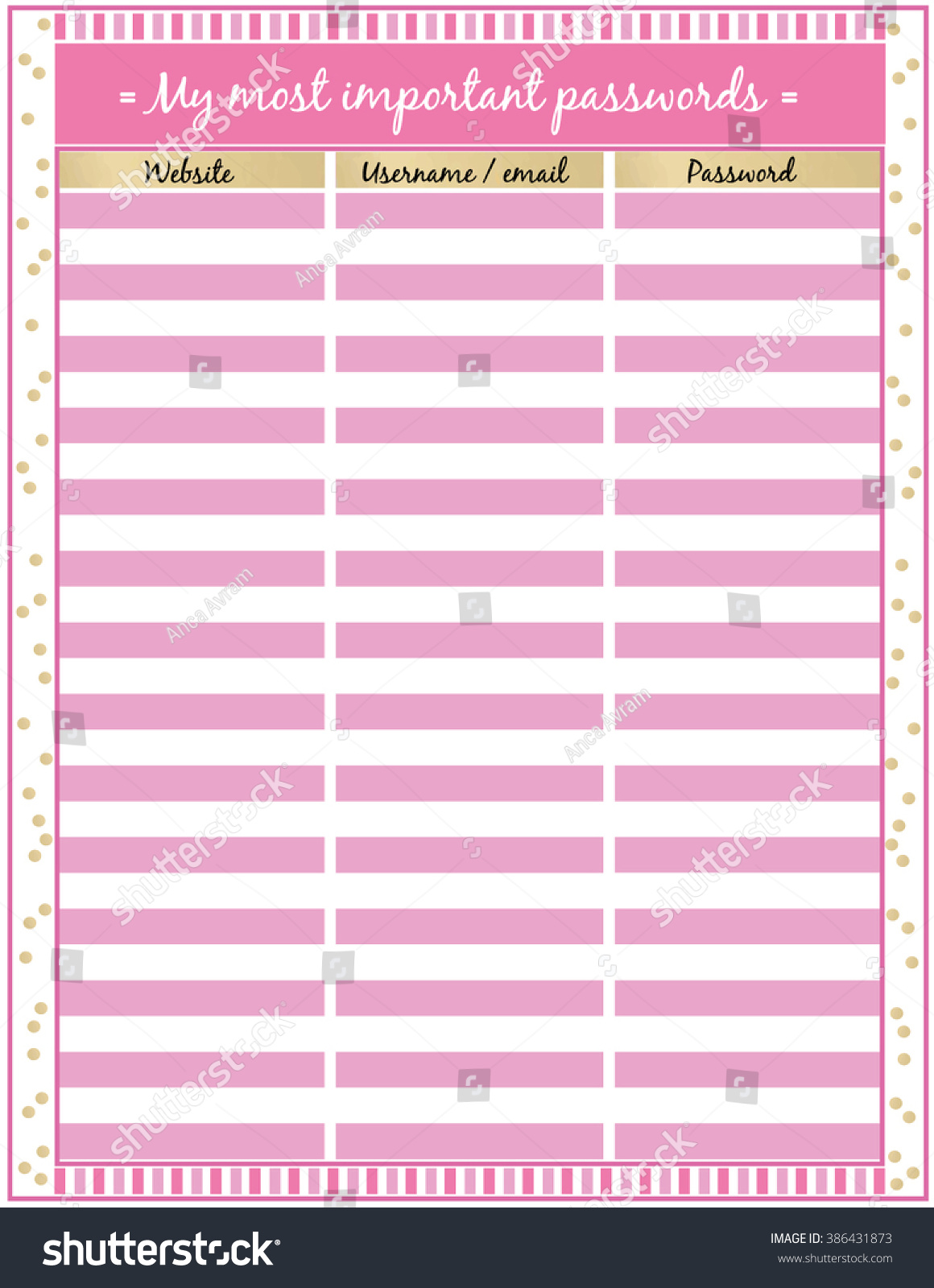 photo relating to Password Sheet Printable titled pword sheet -